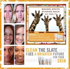 Are you seeing brown? Lingering effects of summer still on your face? Clean the slate with Rodan+Fields Reverse regimen. This is a four step process that gets rid of sun damage, melasma, brown spots, age spots, even freckles. R+F Reverse regimen is the only thing on the market that will actuallyREVERSE sun damage. www.lindacsowell.myrandf.com