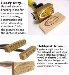 Propane Branding Iron Torch