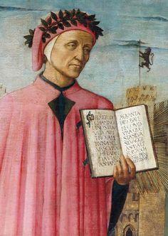 [Renaissance] Image: Domenico  di Michelino - Dante reading from the 'Divine Comedy', detail of Dante Alighieri (1265-1321)