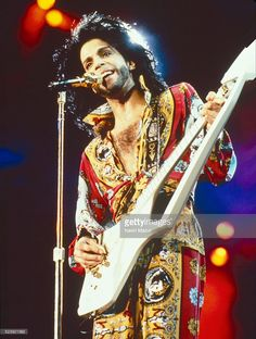 Prince performs onstage during Rock in Rio 2 on January 18, 1991 in Rio De Janero, Brazil.