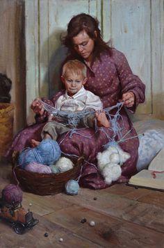 Tangled by Albin Veselka Oil ~ 36 x 24