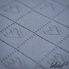 Coeur de dentelle tricot couverture bébé couverture by belovedLT | Etsy