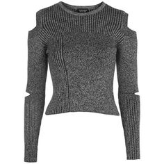 Women's Topshop Slash Sleeve Marled Sweater ($60) ❤ liked on Polyvore featuring tops, sweaters, black multi, colorblock top, color-block sweater, block sweater, marled sweater and cropped sweater