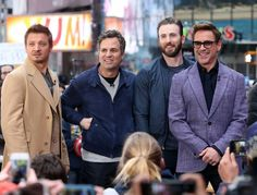 Jeremy Renner, Mark Ruffalo, Chris Evans, Robert Downey Jr.