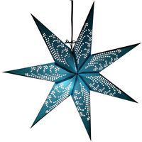 Polaris Paper Star (Turquoise) - Hometown Evolution Inc. Paper Star Lights, Folded Paper Stars, Turquoise Background, Eco Friendly Paper, Colorful Fashion, Evolution, Unique, Handmade, Hand Made
