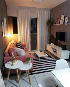 Small Living Rooms, Home Living Room, Living Room Decor, Bedroom Decor, Small Apartment Interior, Apartment Design, Home Room Design, Living Room Designs, Indian Home Decor