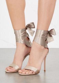 Gala champagne satin sandals