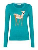 knitted intarsia deer jumper by Dickins & Jones