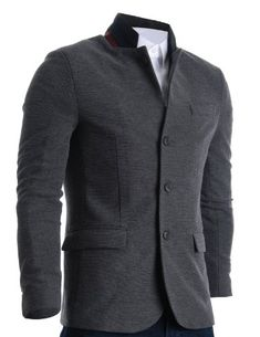 FLATSEVEN Mens Slim Casual Waffle Fabric Blazer Jacket Gray, Boys L (Chest 36) FLATSEVEN http://www.amazon.com/dp/B009N2AKGU/ref=cm_sw_r_pi_dp_KMg1ub0HY912D #FLATSEVEN #men #fashion #Blazer #Casual