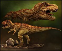 A submission to the Stan Winston Dino competition earlier this year Tyrannosaurid-by-Stephen-Thomson Prehistoric Wildlife, Prehistoric Dinosaurs, Prehistoric World, Prehistoric Creatures, Mythological Creatures, Fantasy Creatures, T Rex Jurassic Park, Dnd Monsters, Dnd Art