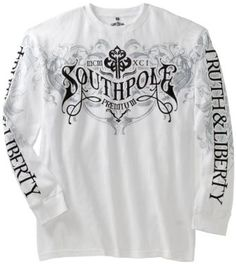 Southpole Men`s Big and Tall Long Sleeve Thermal with Logo $24.99