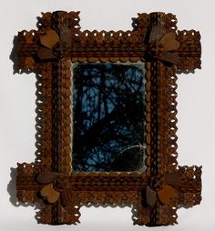 I absolutely love this Tramp Art frame. I want to recreate it for my paintings :)