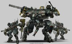 Mech Concept Art by Daryl Mandryk This is what the Mechs could possibly look like whilst in the docking station. Description from pinterest.com. I searched for this on bing.com/images