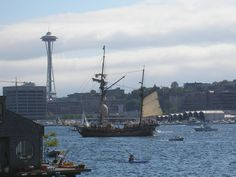 Pirate ship on Lake Union.  Pic by Cheryl Askeland