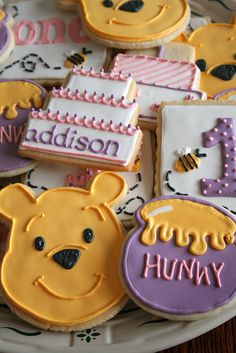 Pooh Cookies for Addison's 1st birthday. by navygreen, via Flickr