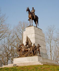 The Virginia Memorial. Located near the center of Seminary Ridge, the memorial depicts General Robert E. Lee atop his horse Traveler, along with seven men representing all the men of Virginia who fought at Gettysburg.  Commissioned by the state of Virginia in 1908, the memorial was completed and dedicated on June 8, 1917. The memorial was sculpted by Frederick William Sievers.
