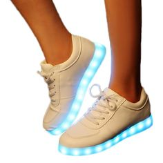 Veroman Unisex Women Men 11 Colors LED Running Shoes USB Charging Flashing Sneakers > Special  product just for you. See it now! : Athletic sneaker shoes