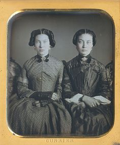 Agnes and Adrianna Pillsbury, 6th plate daguerreotype by John Q. Currier in Lawrence, MA, 1851-4