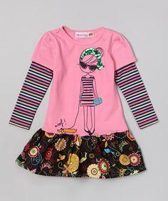 Love this Pink Girl Layered Drop-Waist Dress - Toddler & Girls by Heather Hill on #zulily! #zulilyfinds