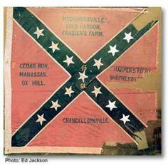 Surviving Confederate Battle Flag, 45th Regiment Georgia Volunteers