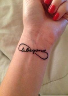 infinity & beyond on wrist, 20  Creative To Infinity And Beyond Tattoos, http://hative.com/creative-to-infinity-and-beyond-tattoos/,