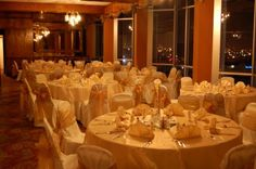 Formal 50th anniversary party decorated with gold
