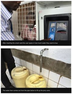 GrundFos' ATM machine in Kenya to distribute fresh clean water to villagers. http://www.bbc.co.uk/news/world-africa-33223922