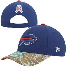 New Era Buffalo Bills Salute to Service 9FORTY Adjustable Hat - Royal Blue/Camo #SalutetoService