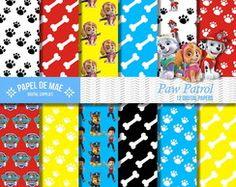 Kit Papel Digital Patrulha Canina
