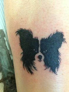 I must tattoo my dogs face. Side Tattoos, Dog Tattoos, Forearm Tattoos, I Tattoo, Sleeve Tattoos, Dog Memorial Tattoos, Butterfly Tattoo On Shoulder, Papillon Dog, Butterfly Tattoo Designs