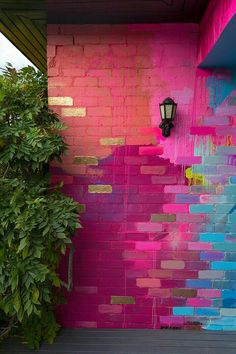 Creative Garden Ideas 481744491392269294 - Camille Javal's Portfolio – Senior Art Brick Wall Background, Home Remodeling Diy, Indian Home Decor, Home And Deco, Home Decor Furniture, Paint Designs, Cheap Home Decor, Interior And Exterior, Exterior Design