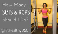 How Many reps and sets should I do? What weight should I use? Fitness Tips, Fitness Motivation, Exercises, Workouts, Reps And Sets, How Many, Personal Trainer, This Or That Questions, Education