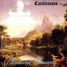 """""""Ancient Dreams"""" is the third album of Swedish doom metal band Candlemass and was released in 1988, and reissued in 2001 by Powerline Records with bonus CD."""