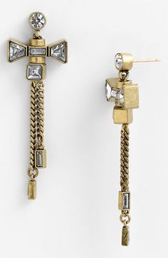 MARC BY MARC JACOBS 'ID Jewels' Bow Drop Earrings available at #Nordstrom