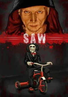 Twisted Art For Twisted Minds: Photo Horror Movie Characters, Best Horror Movies, Iconic Movies, Scary Movies, Jig Saw, Arte Horror, Gothic Horror, Horror Drawing, Horror Artwork