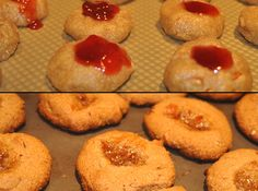 Almond thumbprint cookies no added sugar