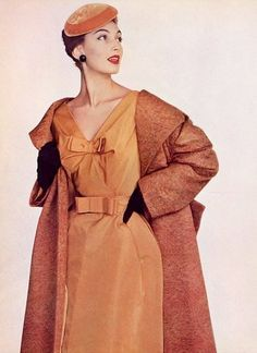 Coat and dress by Jean Patou, 1954
