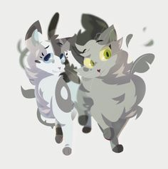 Ivypool and Dovewing | by highlandermink on tumblr