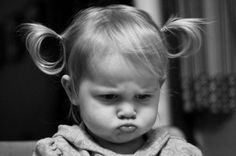 pouting is so necessary...especially when in pigtails