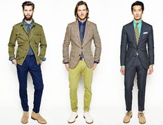 J. Crew Spring Summer 2013 Collection    I'll be lucky if I can get Jon into a slim fit pair of trousers, but LOVE these looks!