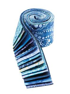Soothing Blue Batik Jelly Roll - 20/pkg.
