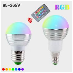 1Pcs E27 E14 LED #RGB Bulb #lamp AC110V 220V 5W LED RGB Spotlight dimmable magic Holiday RGB lighting+IR #Remote Control 16 #colors #aliseller360