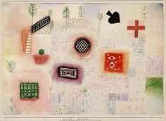 Place signs : Paul Klee Size: 25.5x36.7 cm Medium: watercolor, paper