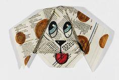 Hauskan paperikoiran taitteluohjeen löydät klikkaamalla kuvaa.  #aamulehti #askartelu #koulumaailma Cards, Maps, Playing Cards