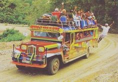 The Jeepney is the fun, colourful and cheap mode of transport in the Philippines. It has its origins with the military presence of the Amer. Philippines Culture, Philippines Travel, Visit Philippines, Manila, Olongapo, Mahal Kita, Subic, Jeepney, Exotic Beaches