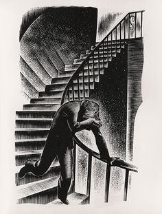 """Lynd Ward - Wood Engraving for """"Prelude to a Million Years"""" 1933"""
