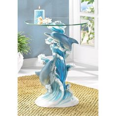 PLAYFUL DOLPHINS ACCENT TABLE, , The Decor Source, The Decor Source