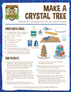 Celebrate the Jamaalidays by making your own beautiful crystal tree! The instructions from Animal Jam Academy are free to download! Keep exploring and PLAY WILD!