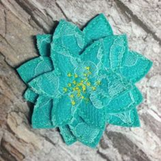 3D Stacked Felt Flower ITH In the Hoop Embroidery Design