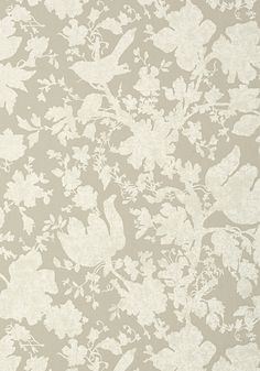 Anna French- Seraphina- Garden Silhouette Neutral shop.wallpaperconnection.com